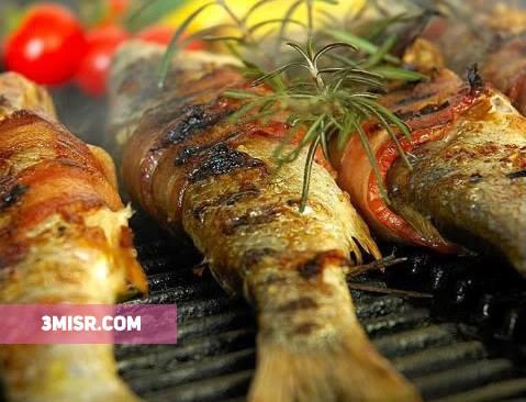 سمك مشوى بالتوابل