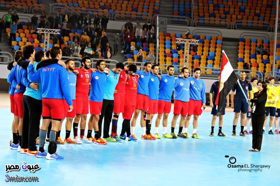 مباراة مصر والجابون لكرة اليد بطولة امم افريقيا 2016